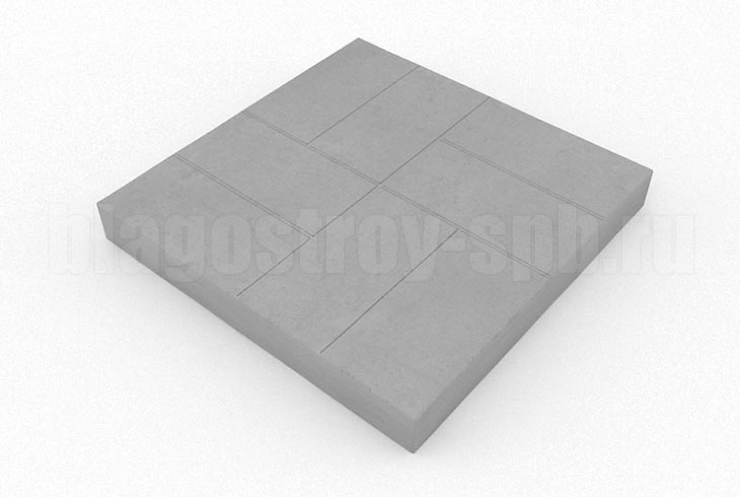 плитка 8-кирпичей серая