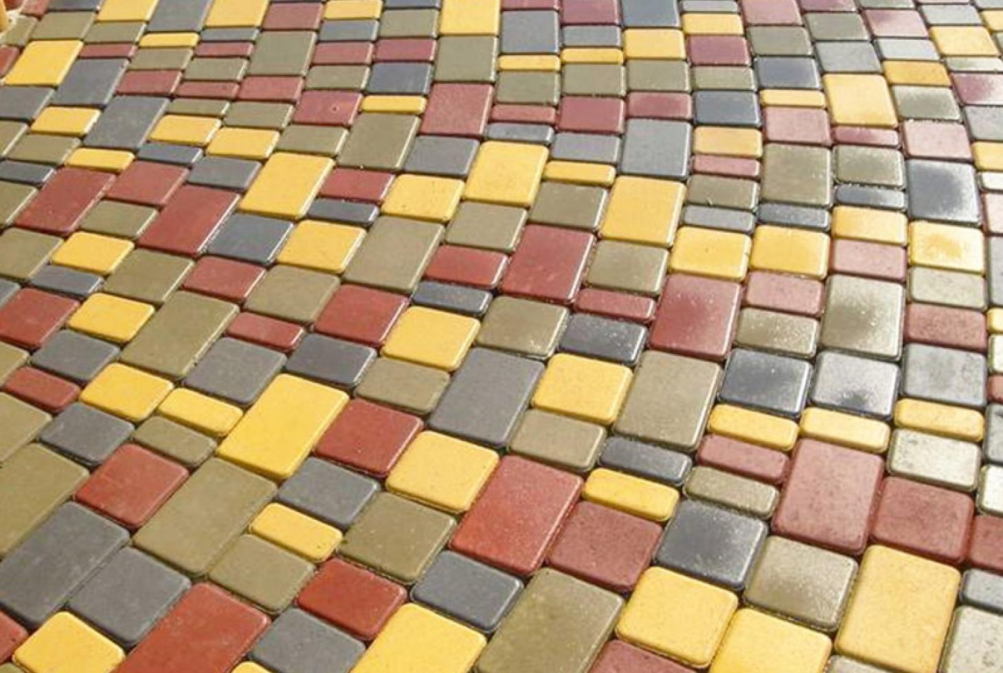 Руками плитка цветная своими тротуарная