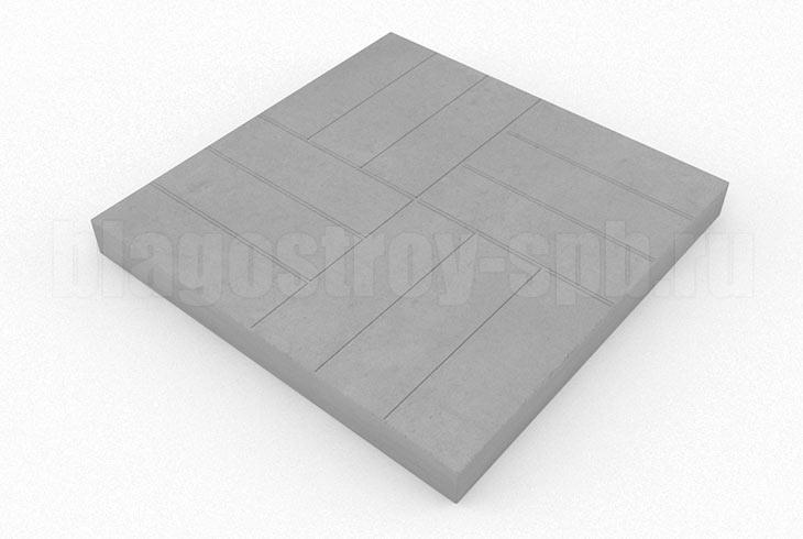 плитка 12-кирпичей серая