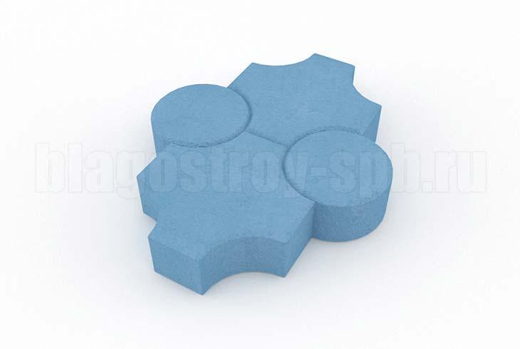 клевер рельефный синий