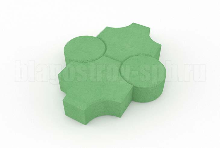 клевер рельефный зеленый