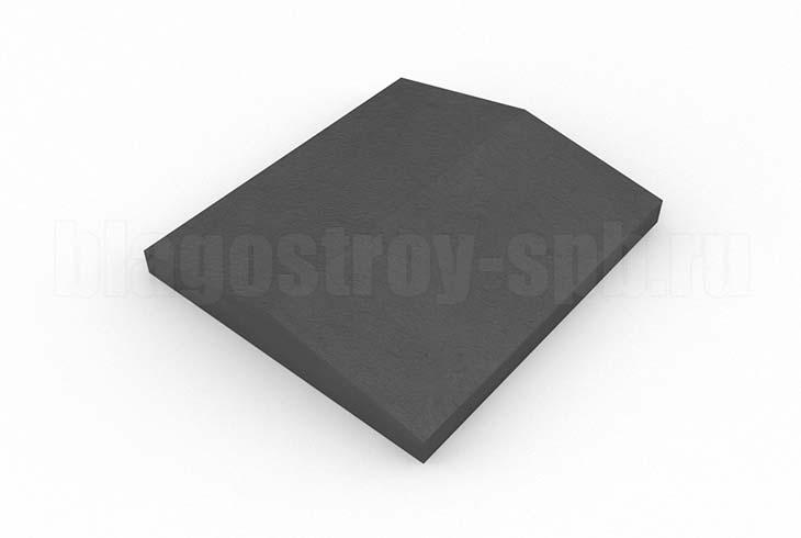 крышка на забор кр 350x390 черная