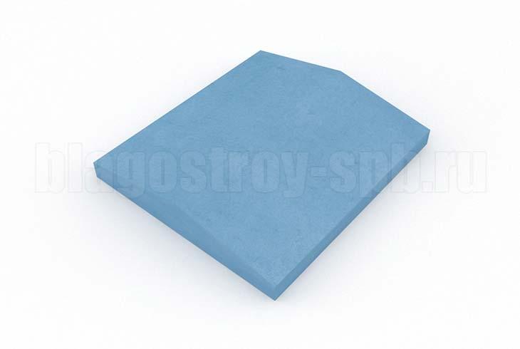 крышка на забор кр 350x390 синяя