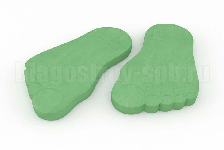 следы великана зеленая