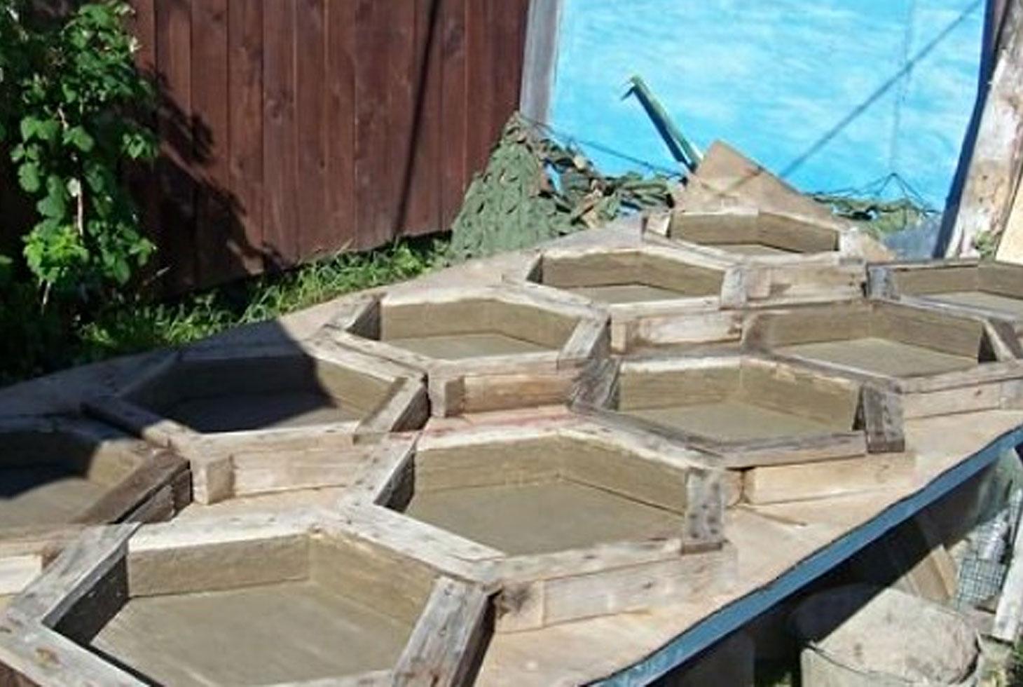 деревянные формы для тротуарной плитки