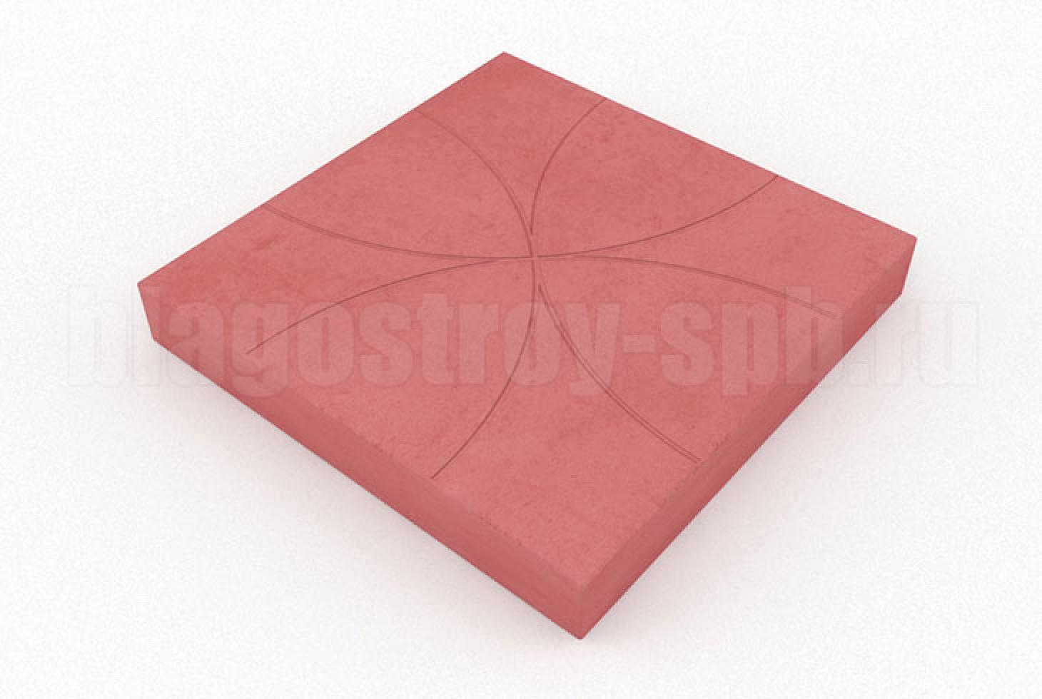 плитка цветок красная